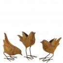 hurtownia Ogrod & Majsterkowanie: Metal Ptak Hella , 3 motywy, H20cm, stal